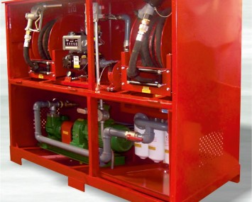 Cabinet For Dispensing Fuel At High And Low Rates