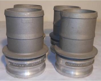 """Acople Camlock Con Espiga En Aluminio De 4"""""""